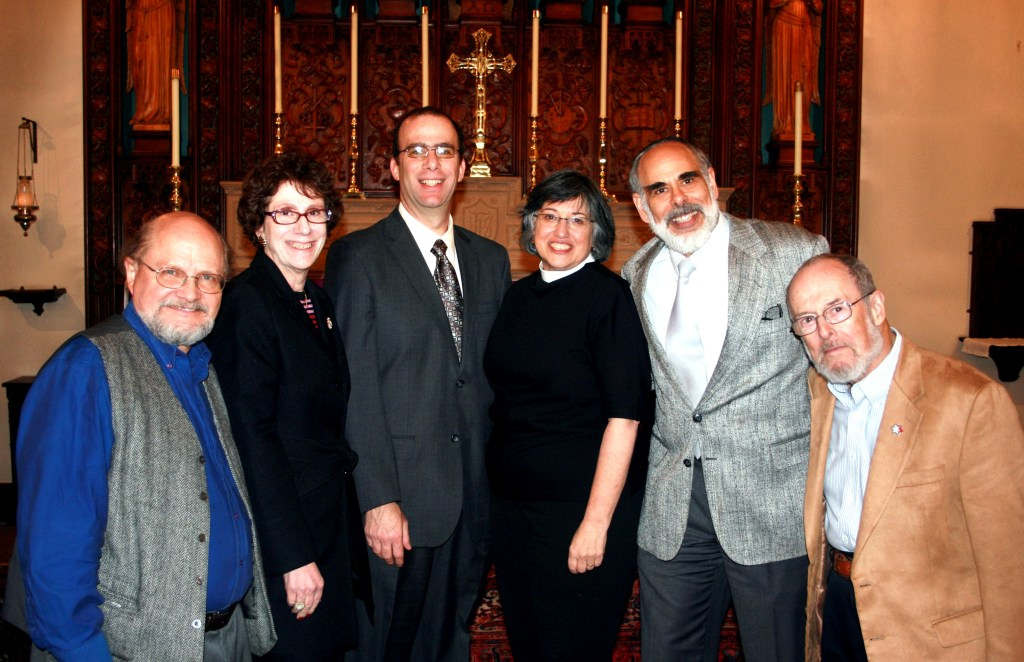 With Rev. Paul Sprecher, Rabbi Shira Joseph, Dr. Joel M. Hoffman, Rabbi Ben Lefkowitz, and Rabbi Stephen Arnold