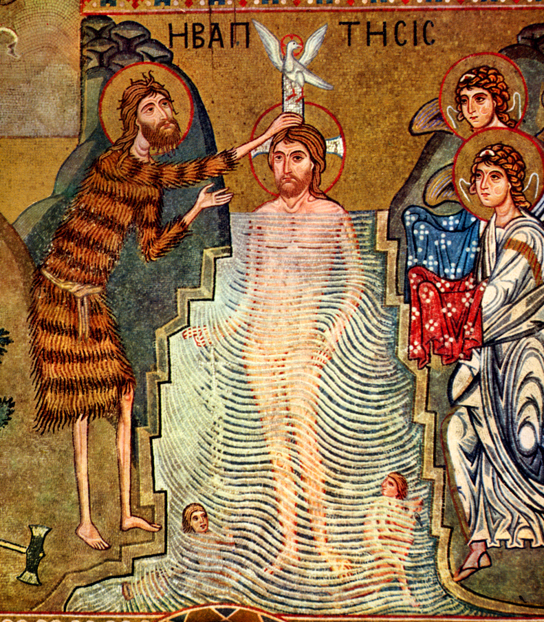 """the baptism of john """"in the fifteenth year of the reign of tiberius caesar the word of god came to john, the son of zechariah in the wilderness and he went into all the region."""