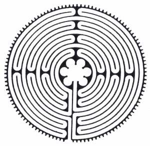 Pattern of Chartres Labyrinth