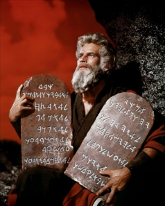 The Ten Commandments with Charlton Heston as Moses