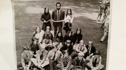 Jim Arden and his students