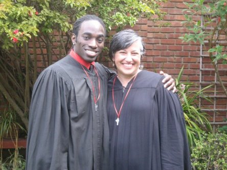 The Rev. Edwin Johnson and me